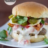 Tex-Mex Bacon Cheeseburgers | www.tasteandtellblog.com