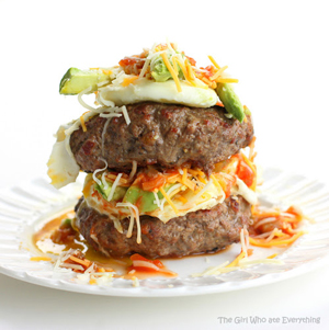 Bunless Fiesta Hamburgers by The Girl Who Ate Everything