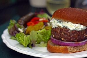 Greek Burger with Feta and Tzatziki by Healthy Delicious