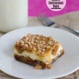 Caramel Cookie Cheesecake Bars | www.tasteandtellblog.com