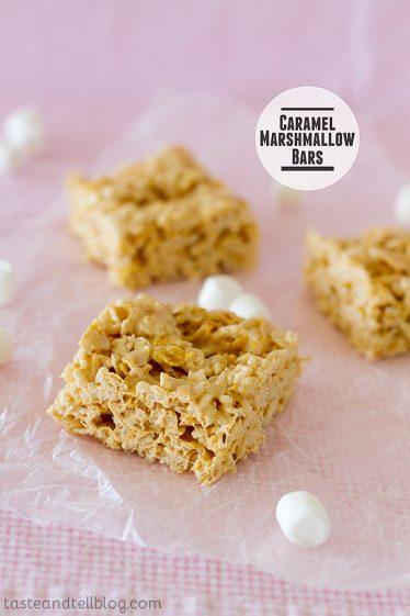 Caramel Marshmallow Bars | www.tasteandtellblog.com