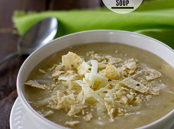 Chicken Green Chile Enchilada Soup | www.tasteandtellblog.com