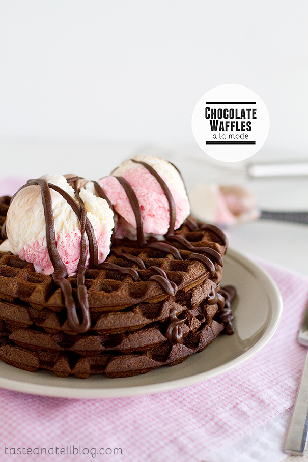 Chocolate Waffles a la Mode
