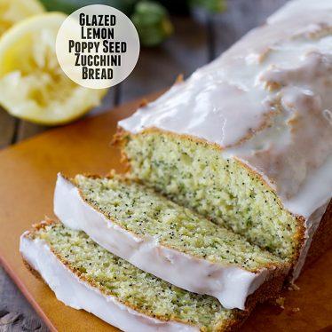 Glazed Lemon Poppy Seed Zucchini Bread | www.tasteandtellblog.com