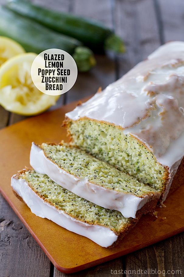 Glazed Lemon Poppy Seed Zucchini Bread - Taste and Tell