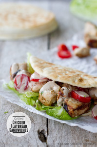 Grilled Chicken Flatbread Sandwiches | www.tasteandtellblog.com