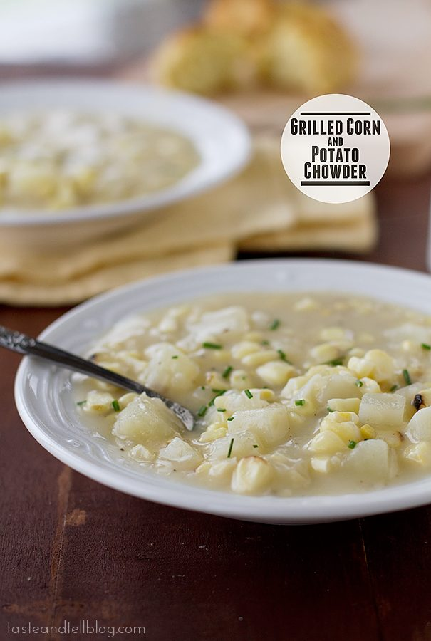 Grilled Corn and Potato Chowder | www.tasteandtellblog.com