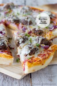 Meatball Pizza | www.tasteandtellblog.com