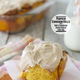 Pumpkin Cinnamon Rolls with Maple Cinnamon Cream Cheese Frosting | www.tasteandtellblog.com