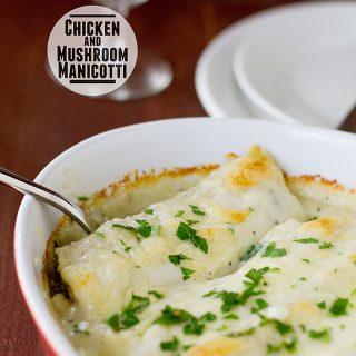 Chicken and Mushroom Manicotti | www.tasteandtellblog.com