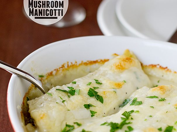 Chicken and Mushroom Manicotti | www.tasteandtellblog.com