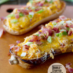 Double-Stuffed Butternut Squash {Fridays with Rachael Ray}