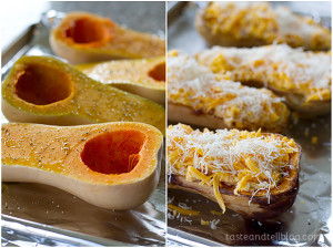 Double-Stuffed Butternut Squash | www.tasteandtellblog.com