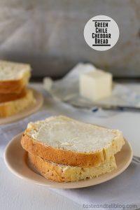 Green Chile Cheddar Bread   www.tasteandtellblog.com