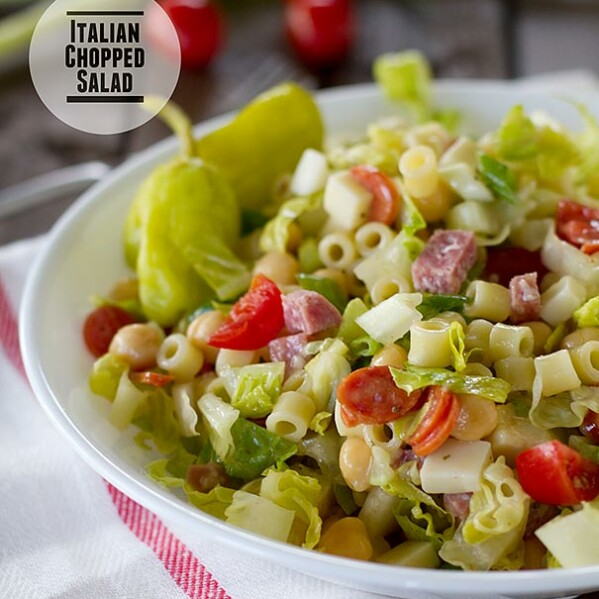 Italian Chopped Salad in a bowl