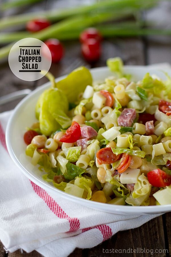 Flavorful and hearty, this Italian Chopped Salad has all of the great flavors of Italy in one huge salad!