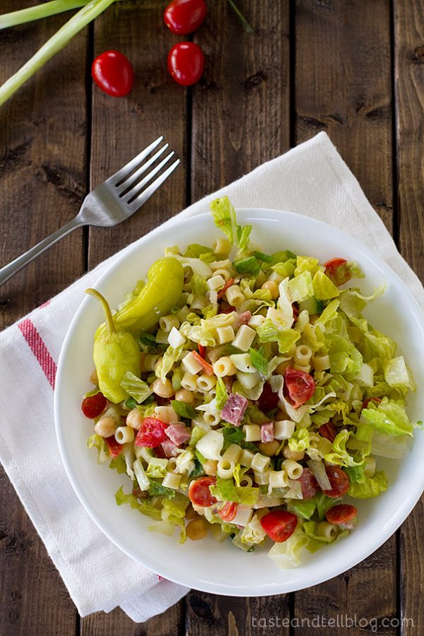 Overhead view of Italian Chopped Salad