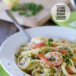 Lemon Pepper Shrimp Linguine {A Virtual Baby Shower}