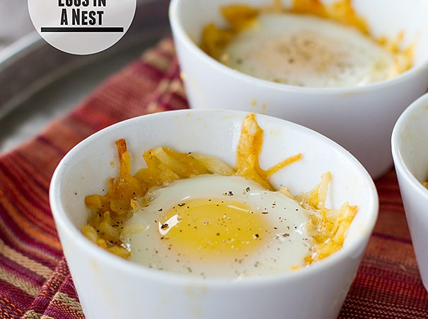 Mexican-Style Eggs in a Nest | www.tasteandtellblog.com