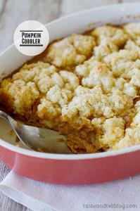 Pumpkin Cobbler | www.tasteandtellblog.com