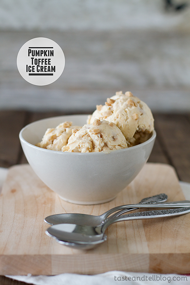 Pumpkin Toffee Ice Cream | www.tasteandtellblog.com