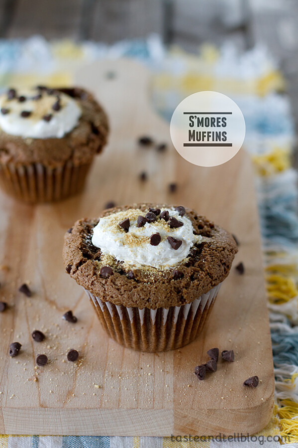 S'mores Muffins | Taste and Tell