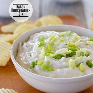Bacon Horseradish Dip   Taste and Tell