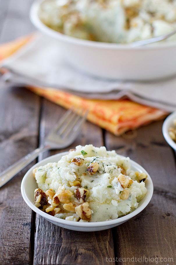 Blue Cheese and Walnut Mashed Potatoes   Taste and Tell
