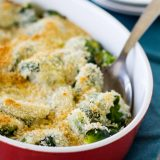 Baked Brussels Sprouts Gratin