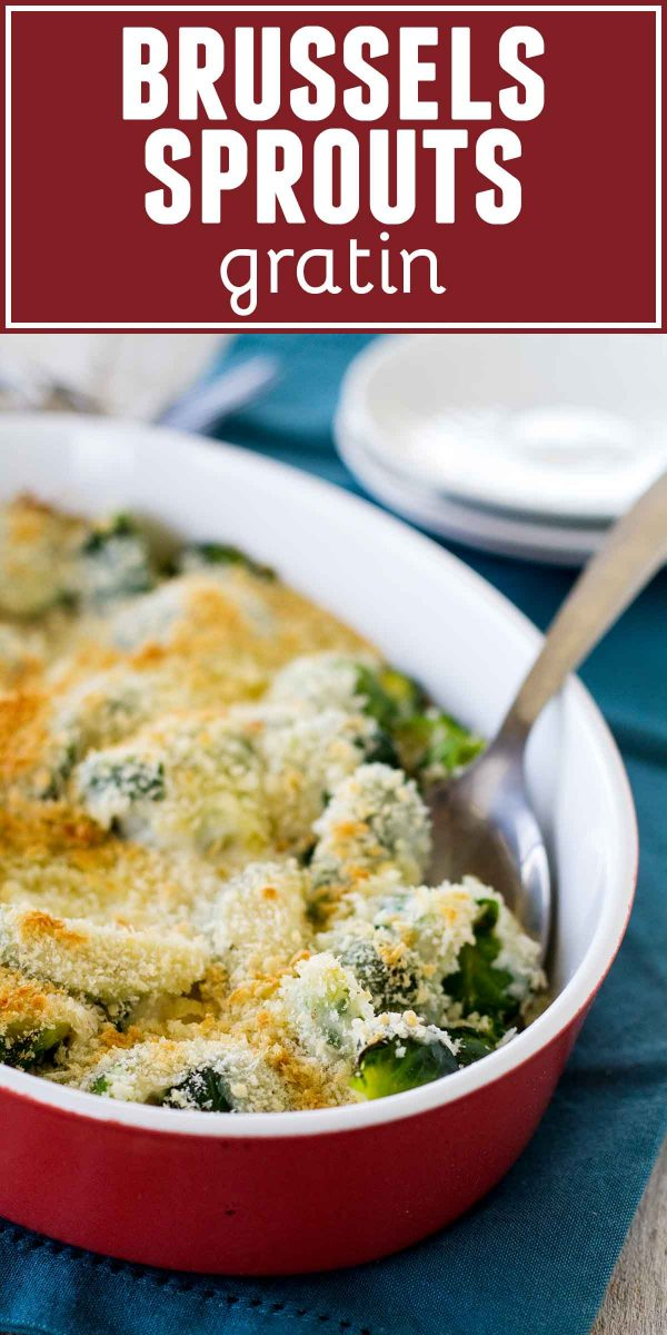Recipe for Brussels Sprouts Gratin