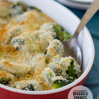 Brussels Sprouts Gratin   Taste and Tell