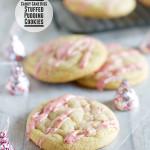 Candy Cane Kiss Stuffed Pudding Cookies from www.tasteandtellblog.com