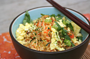Shrimp and Bacon Stir Fry Rice from Cooking with Books