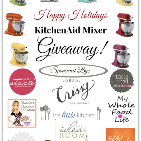 KitchenAid Mixer Giveaway at www.tasteandtellblog.com