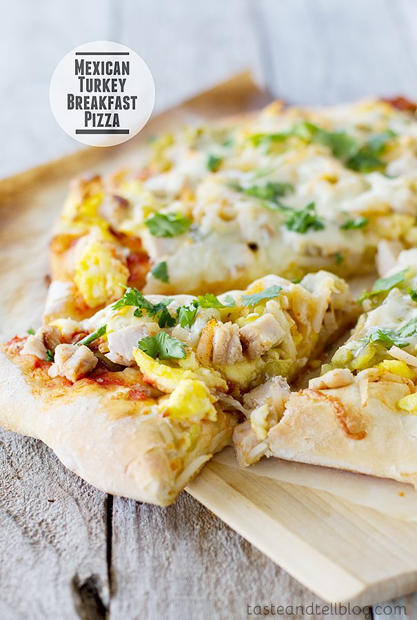 Mexican Turkey Breakfast Pizza