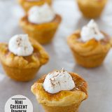 Mini Crescent Pumpkin Pies | Taste and Tell