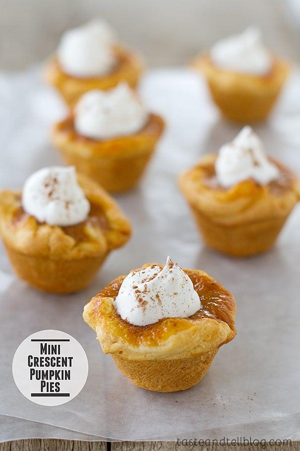Mini Crescent Pumpkin Pies Taste And Tell