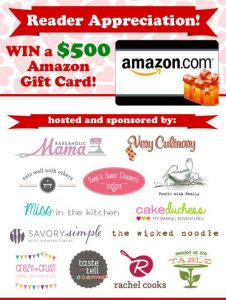 Reader Appreciation Giveaway from Taste and Tell