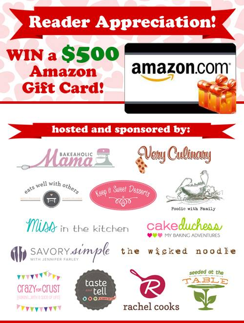 Reader Appreciaton Giveaway - enter to win a $500 Amazon gift card just in time for the holidays!