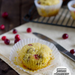 Sausage and Cranberry Corn Muffins from www.tasteandtellblog.com