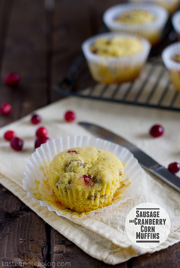 Sausage and Cranberry Corn Muffins