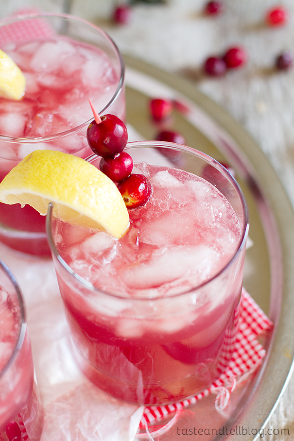 Sparkling Cranberry Punch from www.tasteandtellblog.com