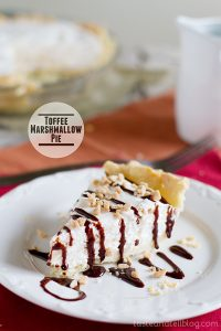 Toffee Marshmallow Pie from www.tasteandtellblog.com