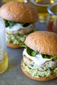 Cheddar Jalapeno Chicken Burgers with Guacamole from What's Gaby Cooking