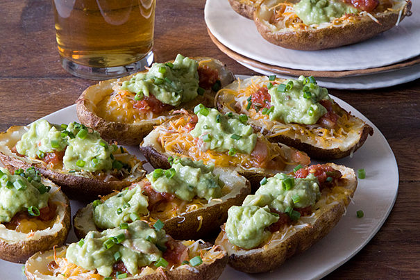 Nacho Loaded Potato Skins from What's Gaby Cooking