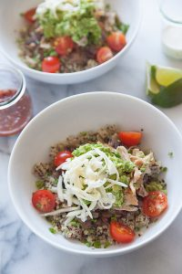 Quinoa Burrito Bowls from What's Gaby Cooking