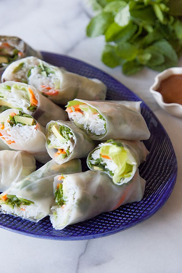 Avocado Shrimp Spring Rolls from What's Gaby Cooking
