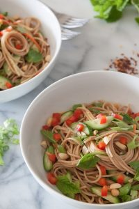 Spicy Peanut Noodles from What's Gaby Cooking