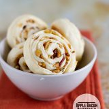 Apple Bacon Pinwheels from www.tasteandtellblog.com