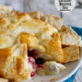 Berry Stuffed Crescent Wrapped Brie from www.tasteandtellblog.com
